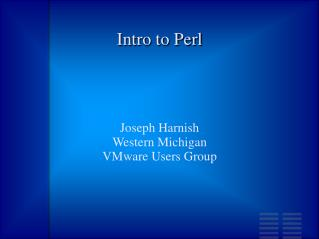Intro to Perl