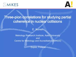 Three-pion correlations for studying partial coherence in nuclear collisions