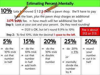 Estimating Percent Mentally