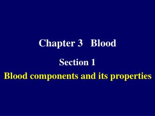 Chapter 3   Blood