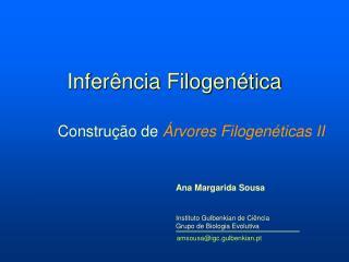 Inferência Filogenética