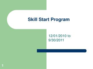 Skill Start Program
