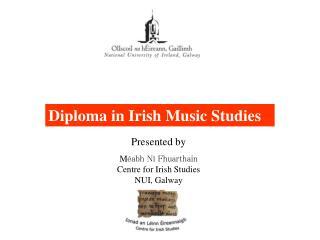 Diploma in Irish Music Studies