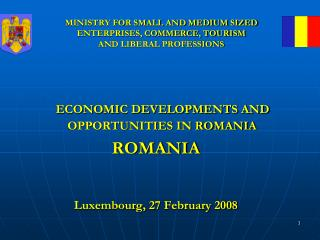 MINISTRY FOR SMALL AND MEDIUM SIZED ENTERPRISES, COMMERCE, TOURISM  AND LIBERAL PROFESSIONS