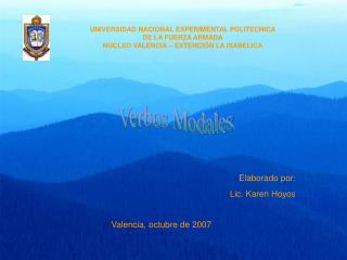 UNIVERSIDAD NACIONAL EXPERIMENTAL POLITECNICA DE LA FUERZA ARMADA NUCLEO VALENCIA   EXTENCI N LA ISABELICA