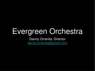 Evergreen Orchestra