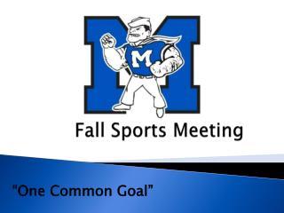 Fall Sports Meeting