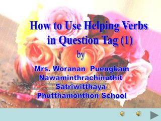 How to Use Helping Verbs  in Question Tag 1