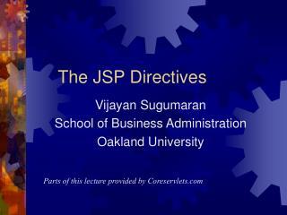 The JSP Directives