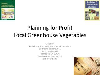 Planning for Profit Local Greenhouse Vegetables