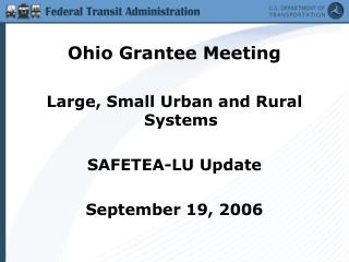 Ohio Grantee Meeting