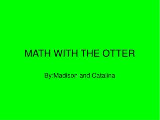 MATH WITH THE OTTER