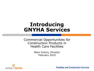 Introducing  GNYHA Services