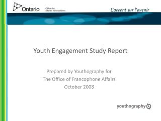 Youth Engagement Study Report