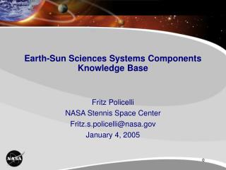 Earth-Sun Sciences Systems Components Knowledge Base