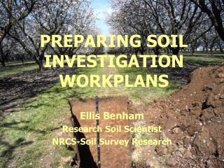 PREPARING SOIL INVESTIGATION WORKPLANS