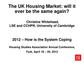 Are we witnessing fundamental structural change in the housing market?