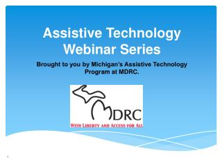 Assistive Technology Webinar Series
