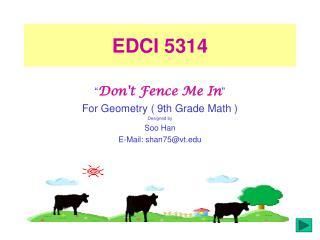EDCI 5314