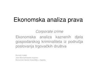 Ekonomska analiza prava