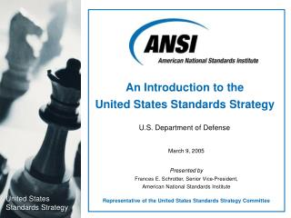 An Introduction to the  United States Standards Strategy