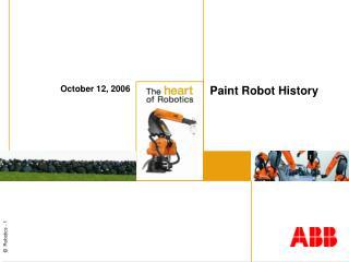 Paint Robot History