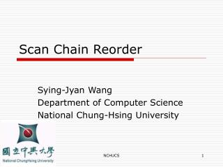 Scan Chain Reorder