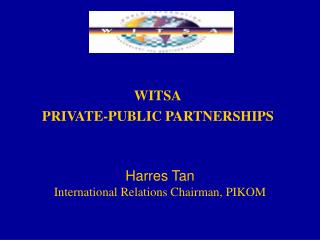 WITSA PRIVATE-PUBLIC PARTNERSHIPS