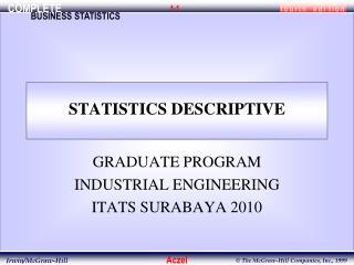 STATISTICS DESCRIPTIVE