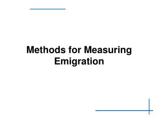 Methods for Measuring Emigration