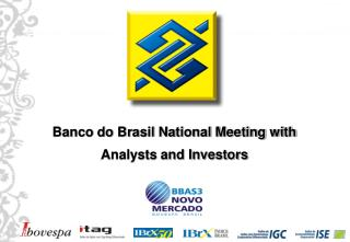 Banco do Brasil National Meeting with Analysts and Investors