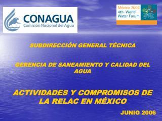 SUBDIRECCIÓN GENERAL TÉCNICA GERENCIA DE SANEAMIENTO Y CALIDAD DEL AGUA