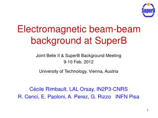 Electromagnetic beam-beam background at SuperB