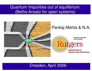 Quantum Impurities out of equilibrium: (Bethe Ansatz for open systems)