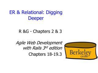 ER & Relational: Digging Deeper