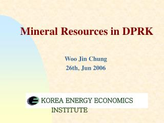 Mineral Resources in DPRK