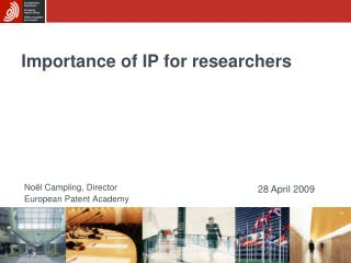 Importance of IP for researchers