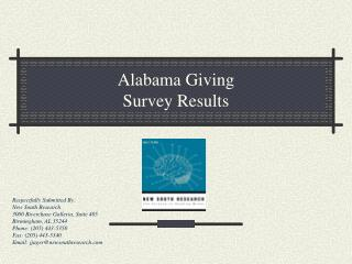 Alabama Giving Survey Results