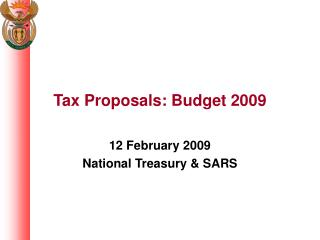 Tax Proposals: Budget 2009