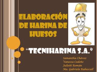 ELABORACIÓN DE HARINA DE HUESOS