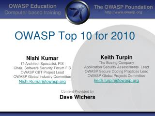 OWASP Top 10 for 2010