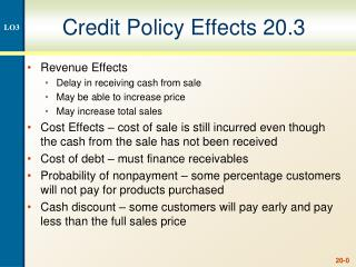 Credit Policy Effects 20.3