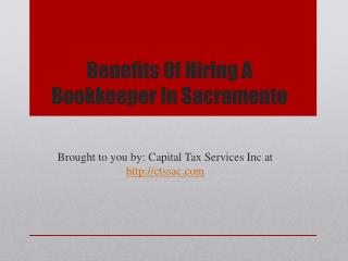 Benefits Of Hiring A Bookkeeper In Sacramento