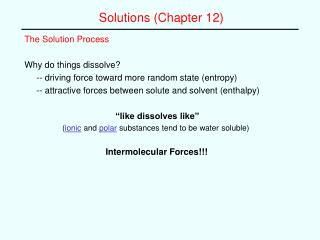 Solutions Chapter 12