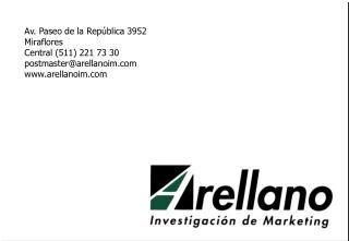 Av. Paseo de la República 3952 Miraflores Central (511) 221 73 30 postmaster@arellanoim