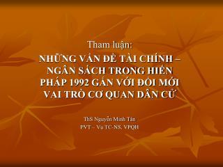 Tham luận: