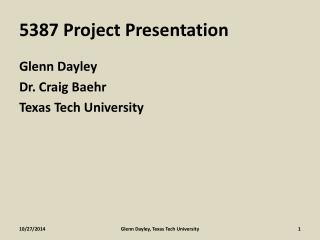 5387 Project Presentation