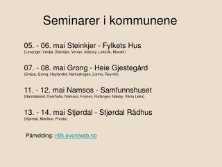 Seminarer i kommunene