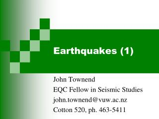 Earthquakes (1)