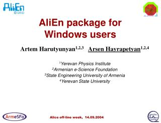 AliEn package for   Windows users